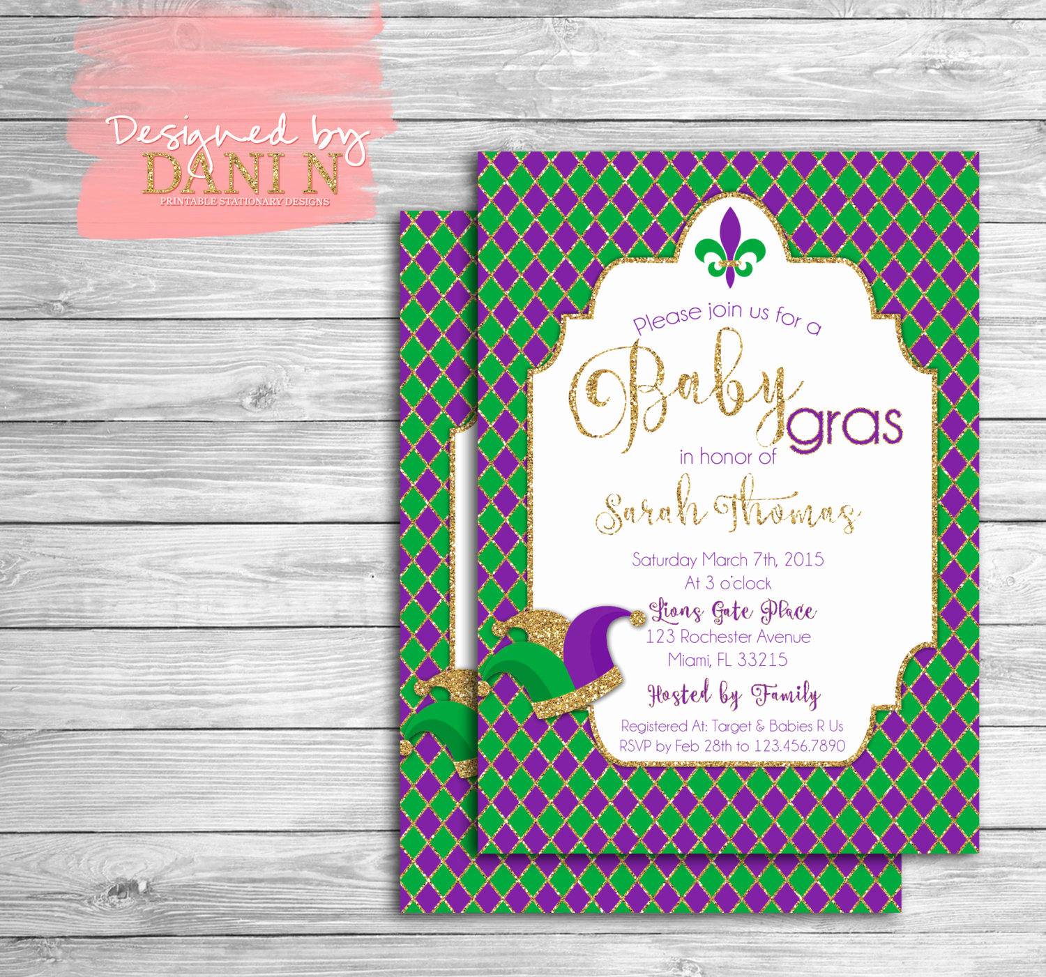 Mardi Gras Invitation Wording Elegant Mardi Gras Invitation Baby Shower Mardi Gras Party Invites