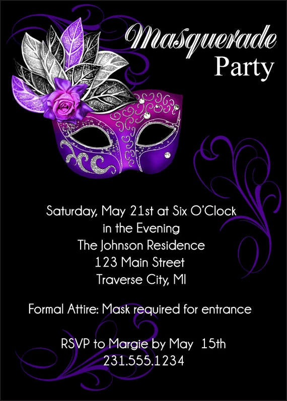 Mardi Gras Invitation Wording Fresh Masquerade Party Invitation Mardi Gras Party Invitation