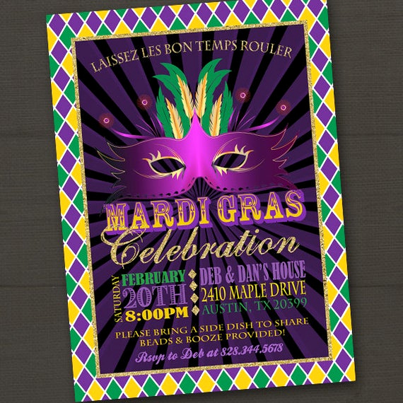 Mardi Gras Invitation Wording Inspirational Mardi Gras Invitation Mardi Gras Party Mardi Gras