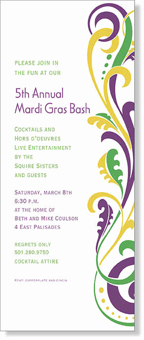 Mardi Gras Invitation Wording New Mardi Gras Invitations