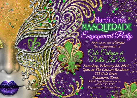 Mardi Gras Invitation Wording New Quinceanera Masquerade Party Birthday Masquerade Invitation