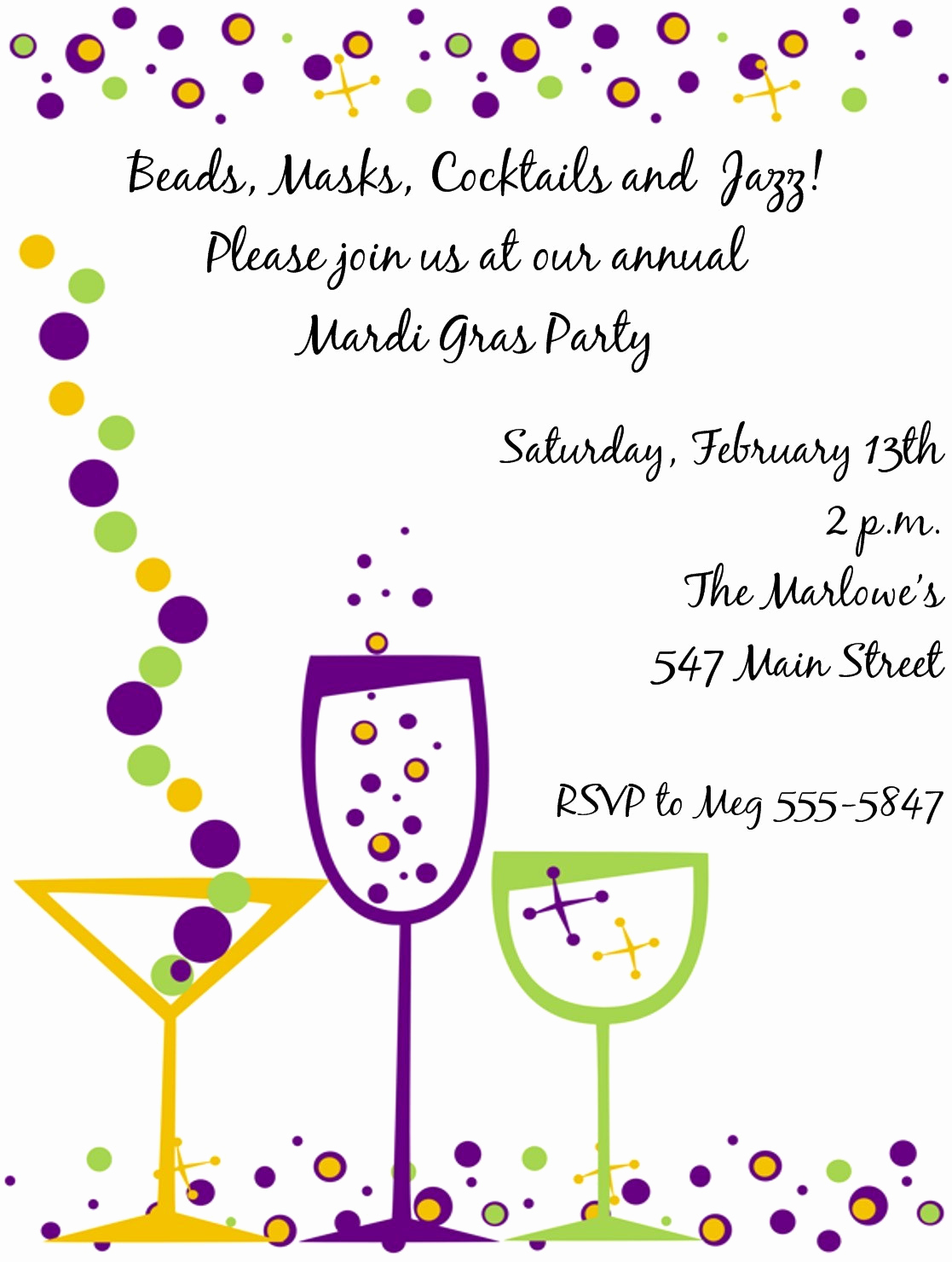 Mardi Gras Invitation Wording Unique Expressionspaperie On Etsy