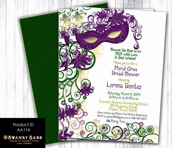 Mardi Gras Invitation Wording Unique Masquerade Party Invitation Bridal Shower Masquerade