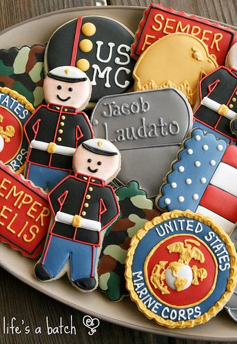 Marine Corps Retirement Invitation Awesome Semper Fi Said with Cookies Lifes A Batch Post Jobs