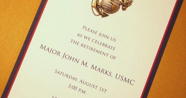 Marine Corps Retirement Invitation Beautiful Usmc Custom Invitations Marine Corps Any Occasion