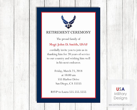 Marine Corps Retirement Invitation Best Of Air force Retirement Ceremony Invitation Printable Us Air