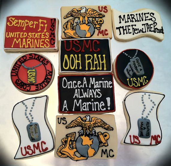 Marine Corps Retirement Invitation Best Of Marine Corps Cookies Set Of 10 T Ideas