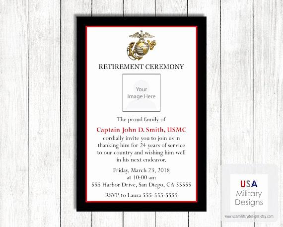 Marine Corps Retirement Invitation Fresh Marine Corps Retirement Invitation Printable Marine Corps