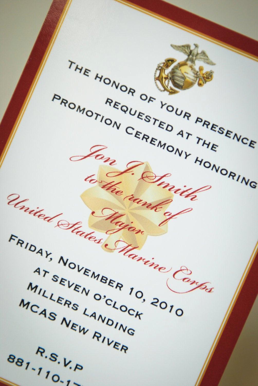 Marine Corps Retirement Invitation Inspirational Marine Ficer Retirement Invitation Announcement