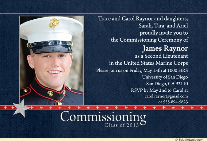 Marine Corps Retirement Invitation Inspirational U S Marine Corps Missioning Invitations S Star