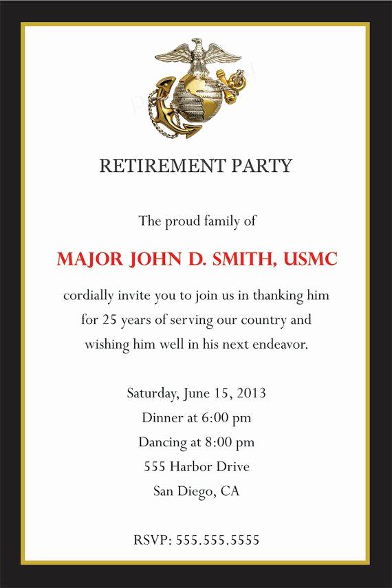 Marine Corps Retirement Invitation Luxury Great Military Retirement Quotes Quotesgram