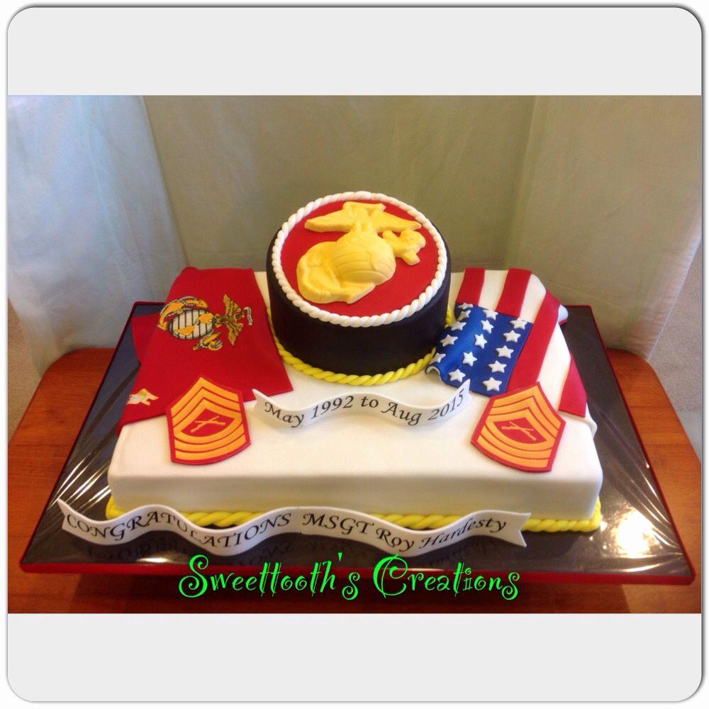 Marine Corps Retirement Invitation Luxury Marine Corp Retirement Cake