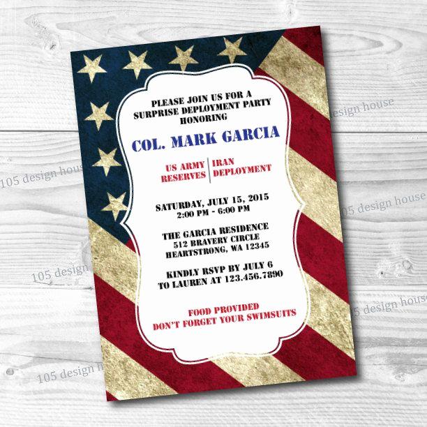 Marine Corps Retirement Invitation Luxury Military Deployment Invitation Printable Military