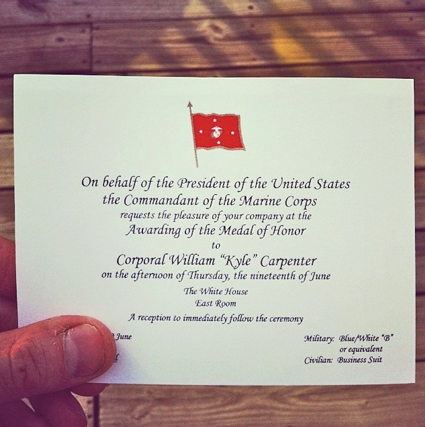 Marine Corps Retirement Invitation New Medal Honor Invitation Business Insider