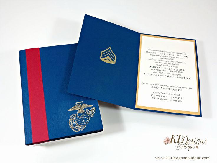"Marine Corps Retirement Invitation New Usmc "" Mess Night"" Personalized Invitations"