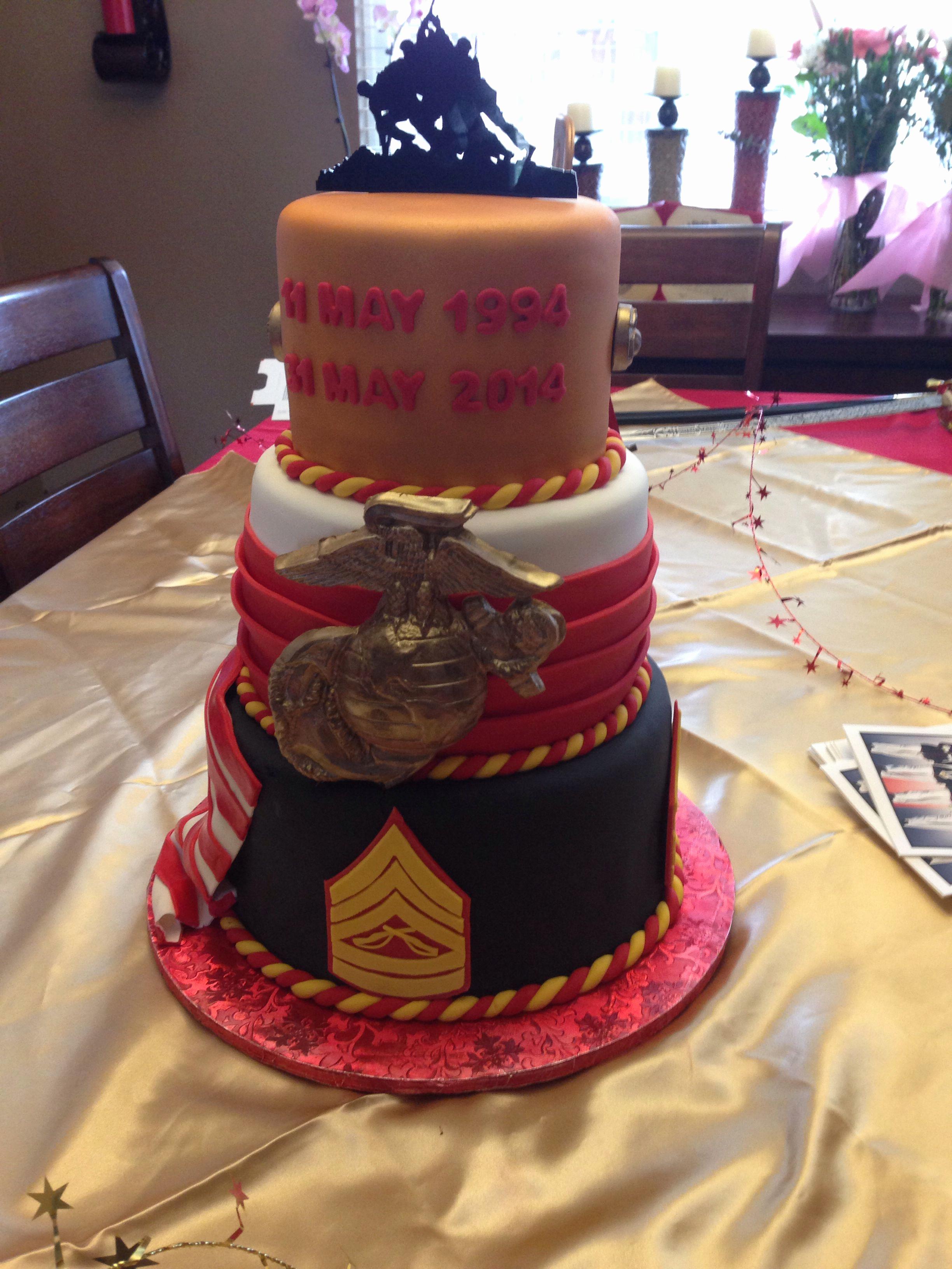 Marine Corps Retirement Invitation New Usmc Retirement Cake