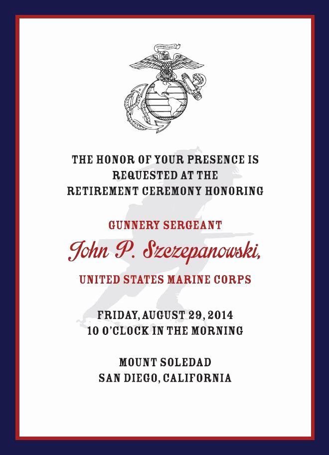 Marine Corps Retirement Invitation New Usmc Retirement Invitation Kapeesh Marketing Llc
