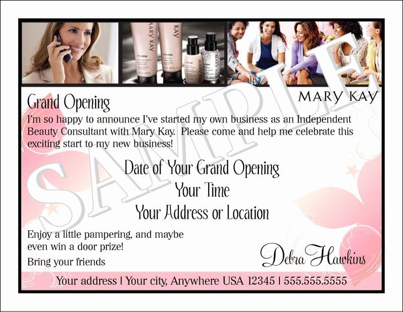 Mary Kay Debut Party Invitation Fresh Mary Kay Business Debut Invitation Mary Kay
