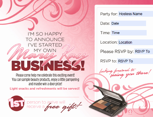 Mary Kay Debut Party Invitation New Index Of Ckfinder Userfiles Images 4397