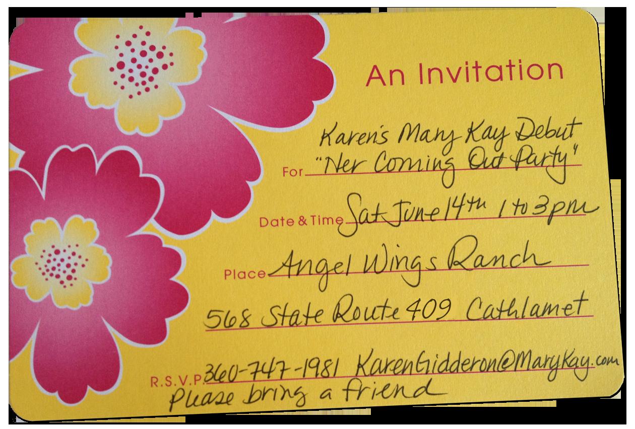 Mary Kay Debut Party Invitation New Mary Kay Invitations