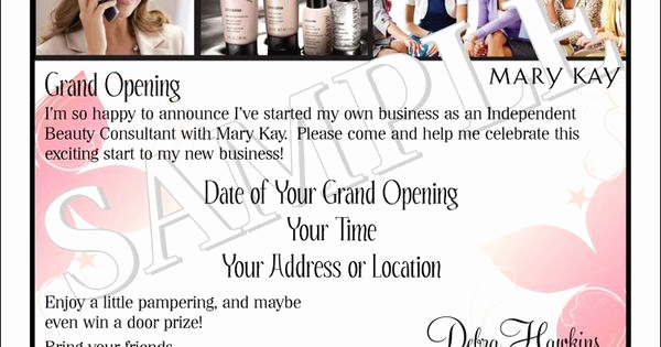 Mary Kay Debut Party Invitation Unique Mary Kay Business Debut Invitation Mary Kay