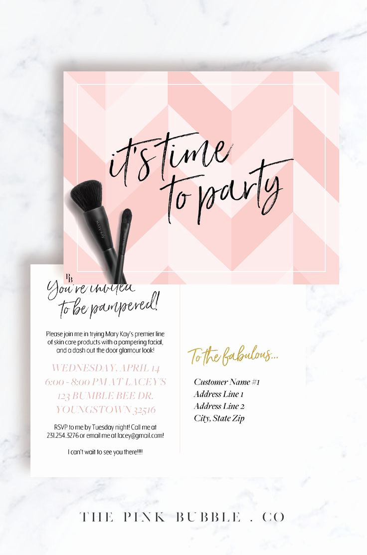 Mary Kay Invitation Template Elegant 23 Best Mary Kay Invitations Images On Pinterest
