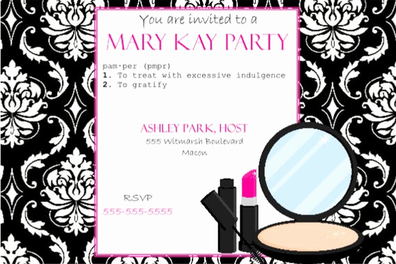 Mary Kay Invitation Template Inspirational Items Similar to Pink and Black Party Invitation Mary Kay