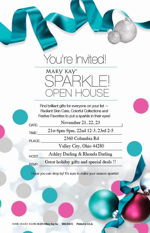 Mary Kay Invitation Template Inspirational Mary Kay Holiday Open House November 21 22 and 23