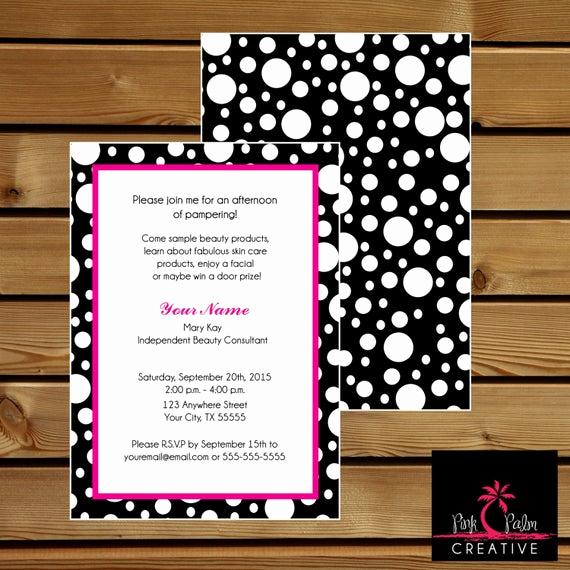 Mary Kay Invitation Template Inspirational Mary Kay Skin Class Party Invitation 7 X 5