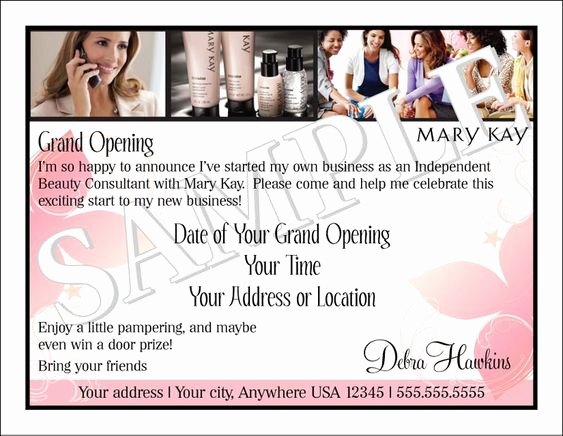Mary Kay Invitation Templates Elegant Invitations Open House and Business On Pinterest