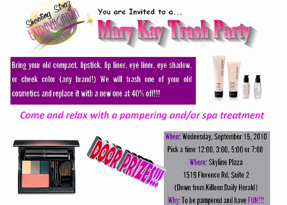 Mary Kay Invitation Templates Elegant Mary Kay Trash Party Line Invitations & Cards by Pingg