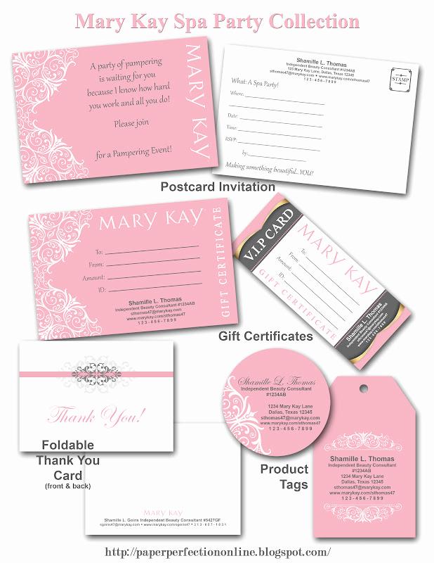 Mary Kay Invitation Templates Inspirational Paper Perfection Mary Kay Spa Party Printables