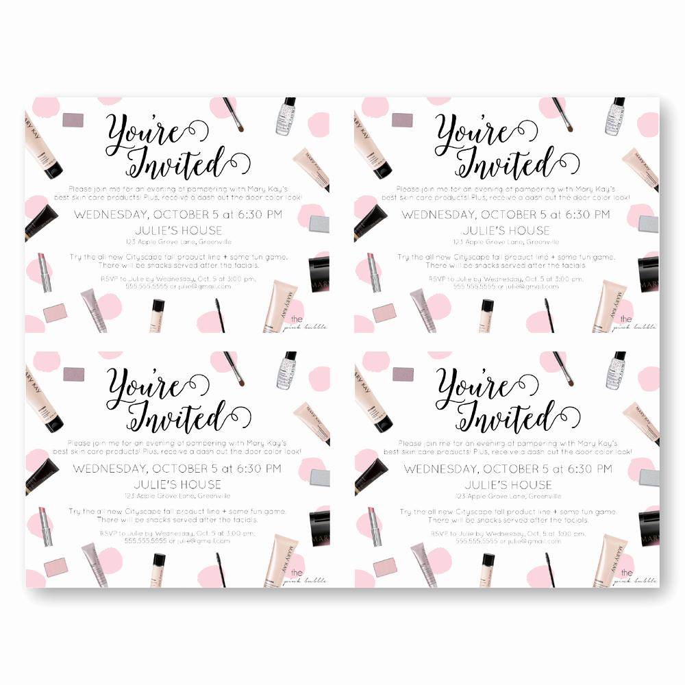 Mary Kay Invitation Templates Luxury Invitations — the Pink Bubble