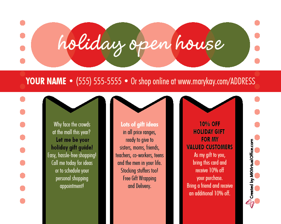 Mary Kay Open House Invitation Awesome Blog