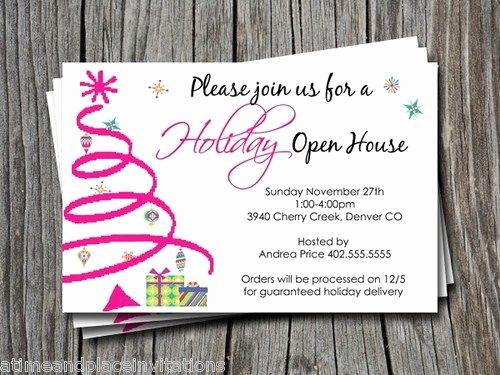 Mary Kay Open House Invitation Fresh Holiday or Christmas Open House Invitation