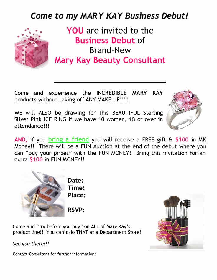 Mary Kay Open House Invitation Inspirational 186 Best Images About Mary Kay Party Ideas On Pinterest