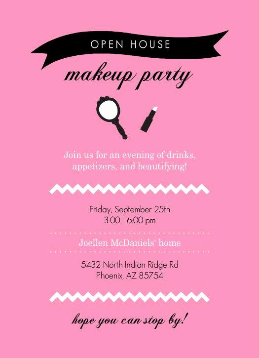 Mary Kay Open House Invitation Lovely Mary Kay Party Invitation Templates Open House Invitation