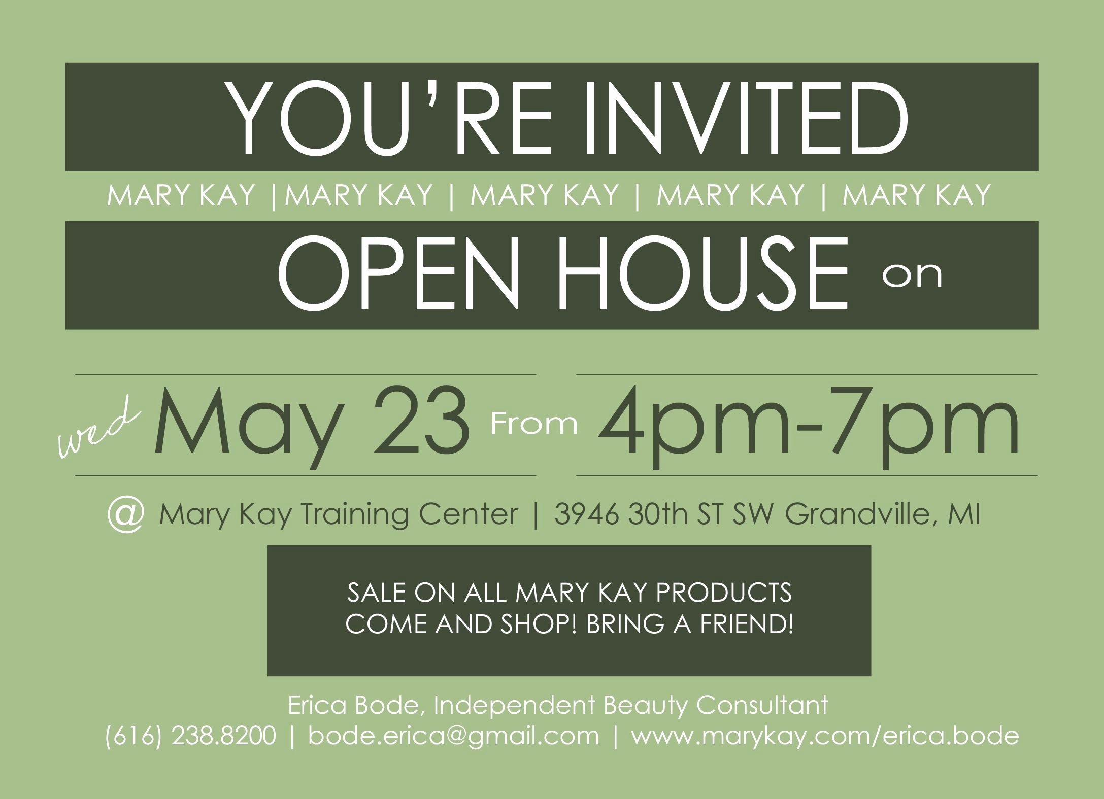 Mary Kay Open House Invitation Lovely Open House Invitation Mary Kay Erica Bode