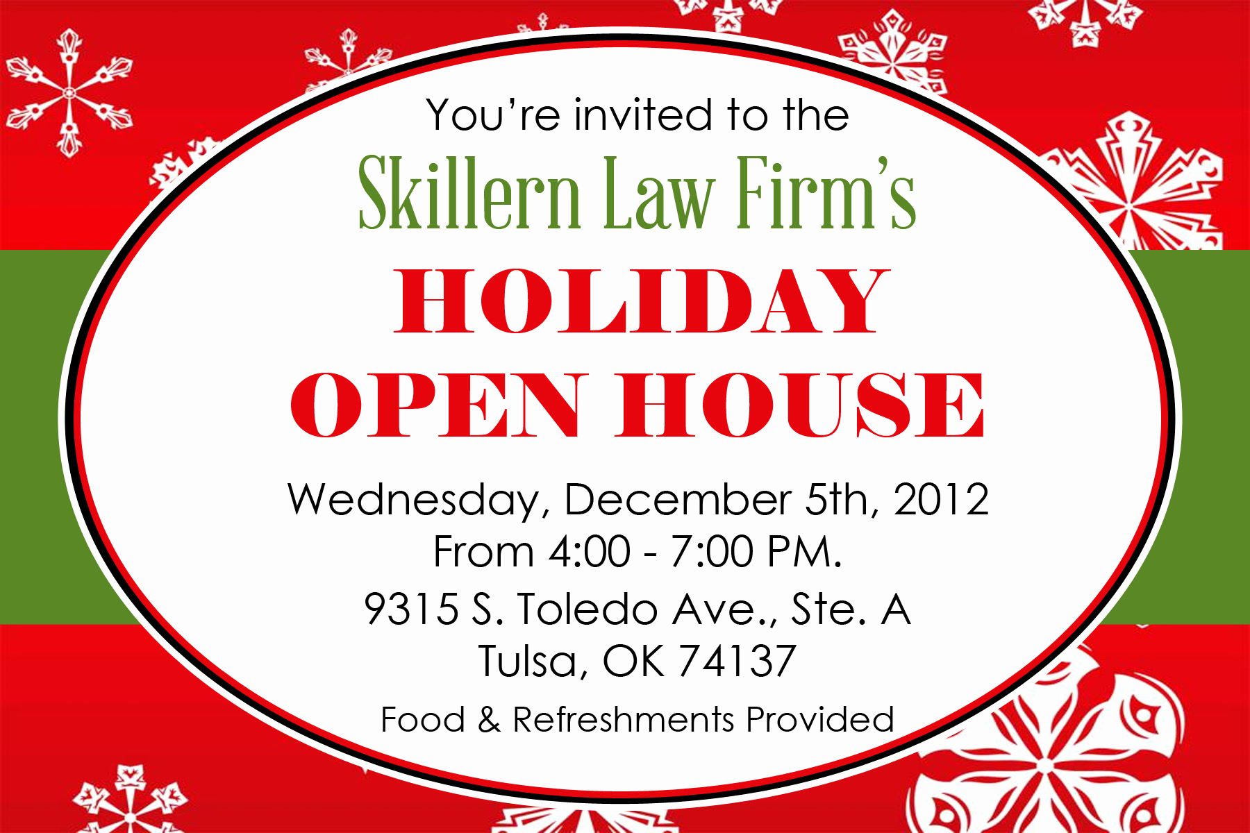 Mary Kay Open House Invitation New Holiday Open House Skillern Law Firm Pllc