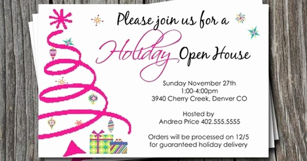 Mary Kay Open House Invitation Unique Holiday or Christmas Open House Invitation