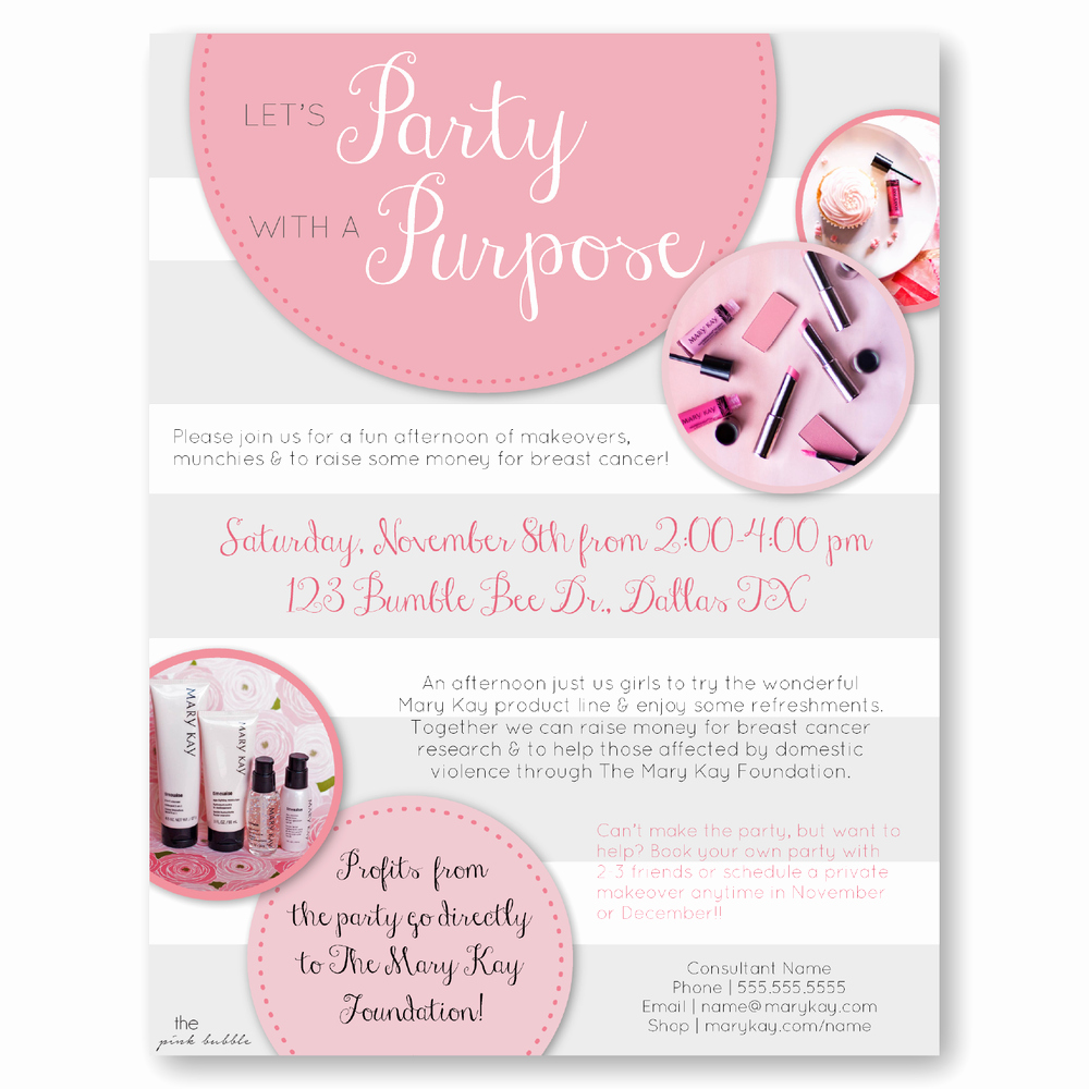 Mary Kay Party Invitation Awesome Sales Ideas — the Pink Bubble
