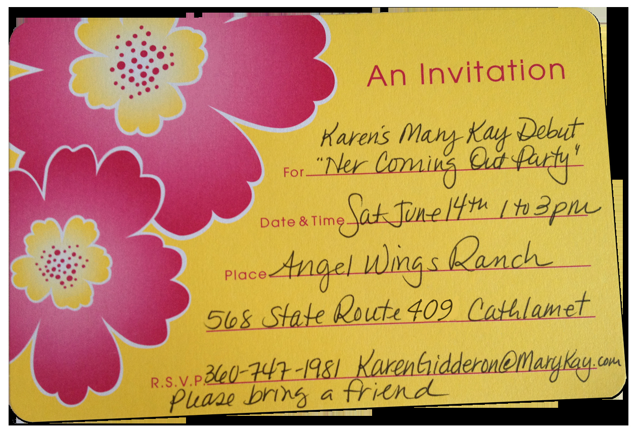 Mary Kay Party Invitation Lovely Mary Kay Invitations