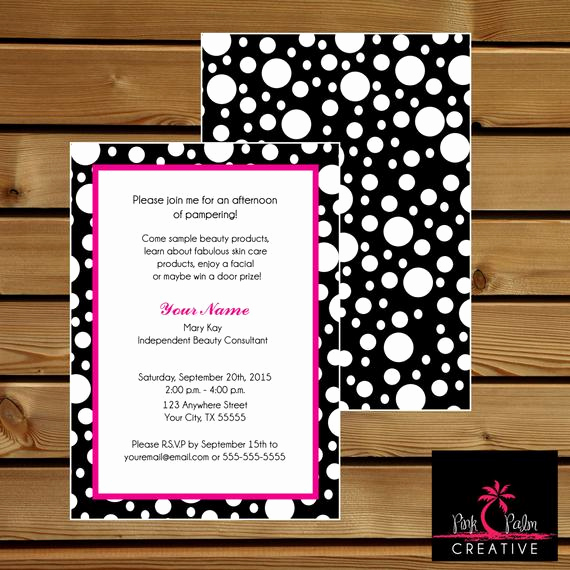 Mary Kay Party Invitation Luxury Mary Kay Skin Class Party Invitation 7 X 5