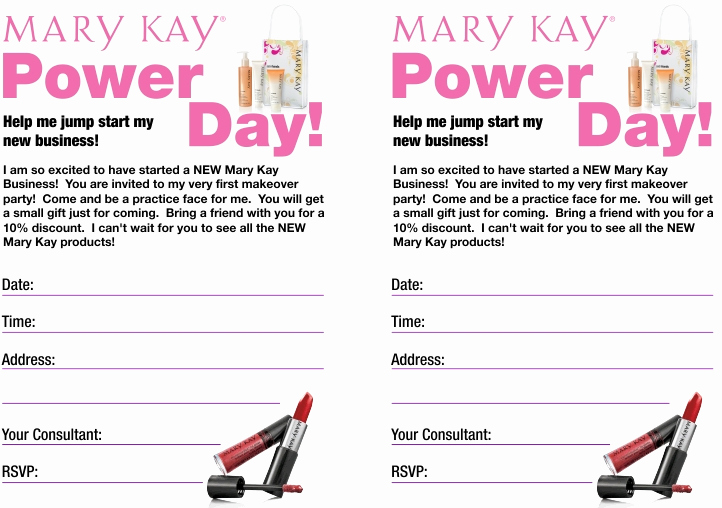 Mary Kay Party Invitation Templates Best Of New Consultants Go Dedra Mary Kay Invitations Pdf