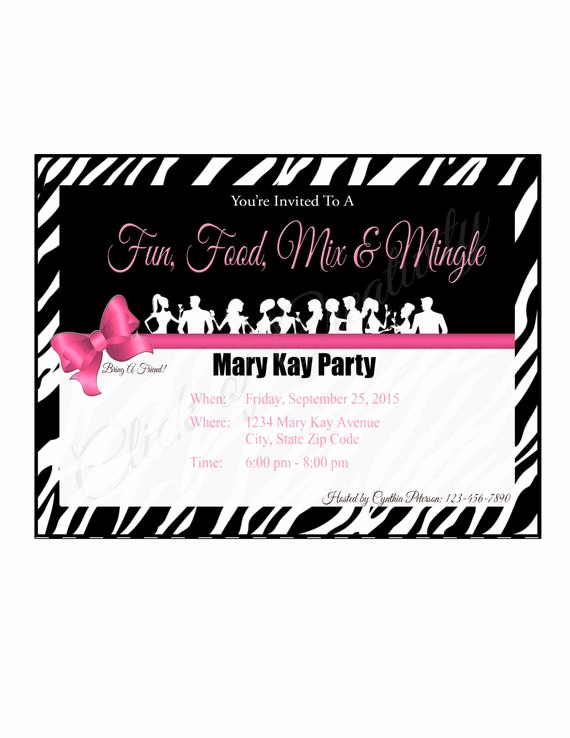 Mary Kay Party Invitation Templates Elegant Mary Kay Party Invitations