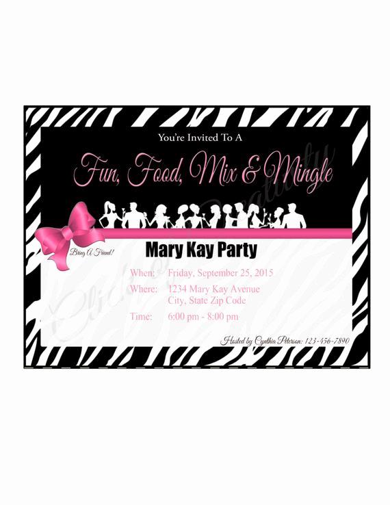 Mary Kay Party Invitation Templates Elegant Mary Kay Party Invitations