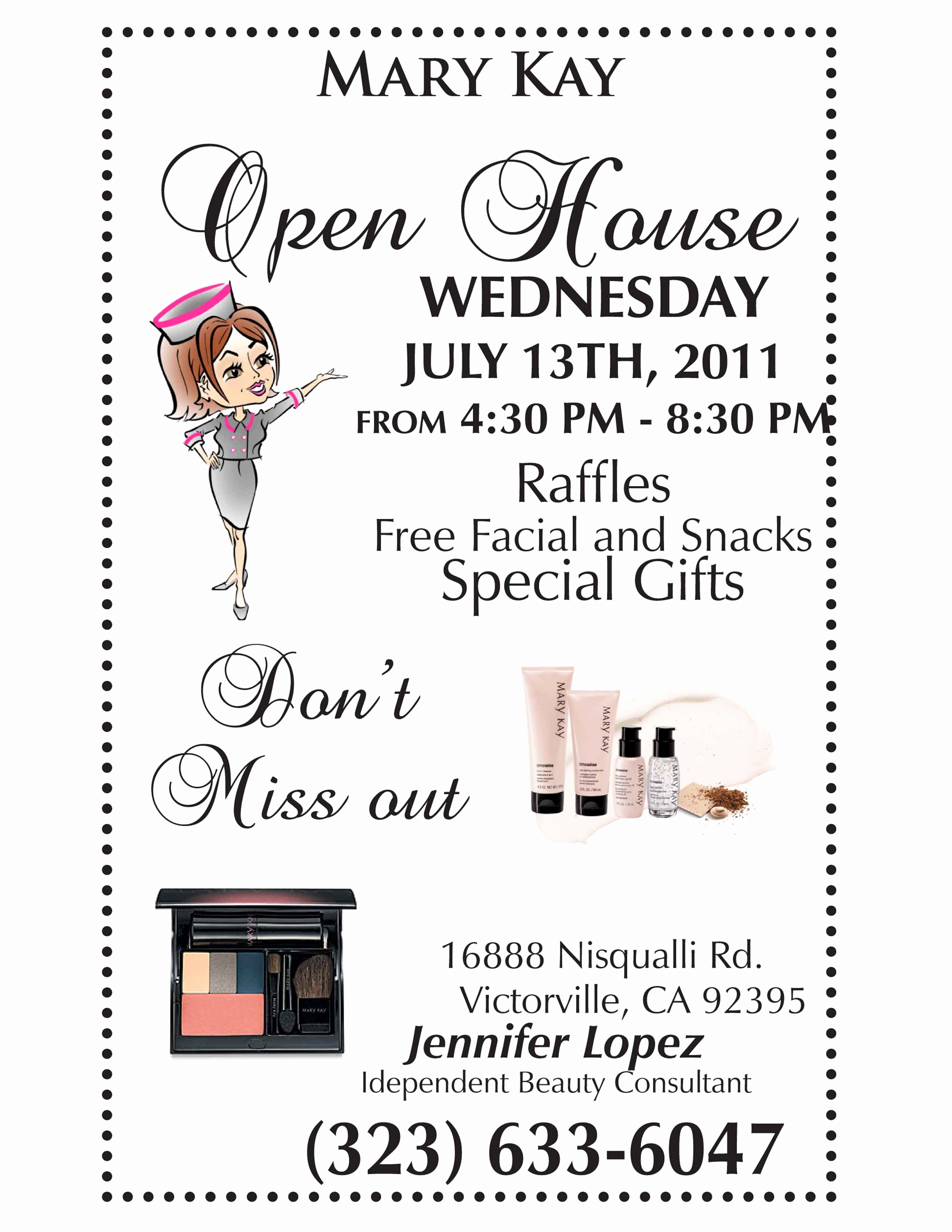 Mary Kay Party Invitation Templates Luxury Mary Kay Open House Flyer Template Google Search