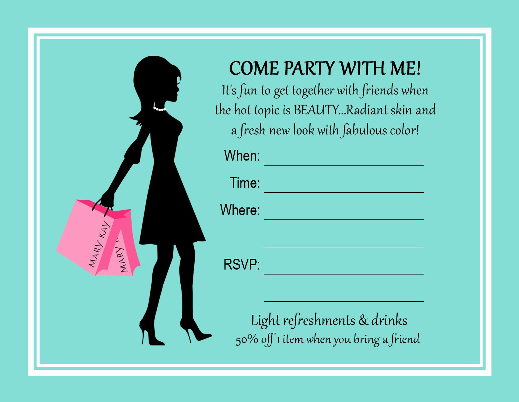 Mary Kay Party Invitation Templates Luxury Printable Mary Kay Party Invitations Mary Kay Party