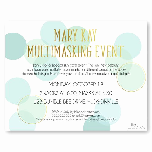 Mary Kay Party Invitation Templates Unique 21 Best Mary Kay Invitations Images On Pinterest