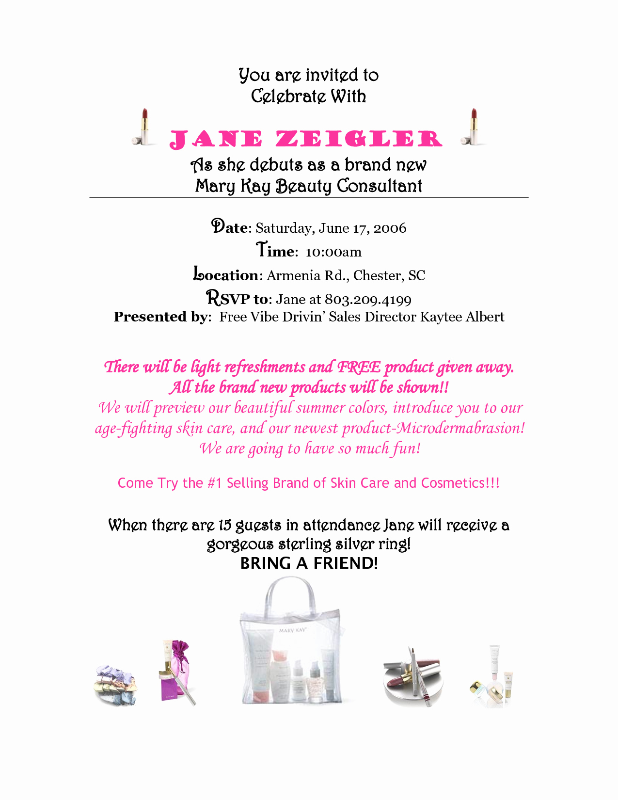 Mary Kay Party Invitation Templates Unique Mary Kay Debut Party Invitations